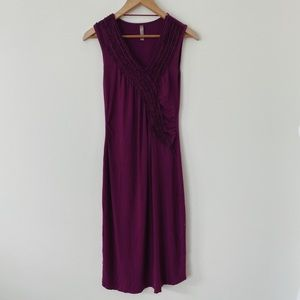 Thyme Xsmall purple Midi Lenght Casual Stretchy Dress